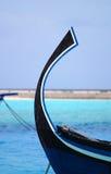 Dhoni. Detail of famous Maldivian fishing ship Dhoni Royalty Free Stock Photos