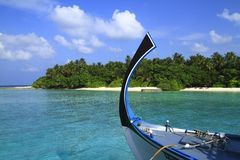 Dhoni. Bow of a traditional  Dhoni , Maldives, Indian Ocean Stock Photo