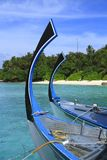 Dhoni. Bow of a traditional  Dhoni , Maldives, Indian Ocean Royalty Free Stock Images