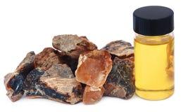 Dhoop del incienso con aceite esencial imagen de archivo libre de regalías