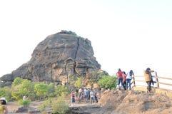 Dhoopgadh em Panchmarhi, Índia imagens de stock