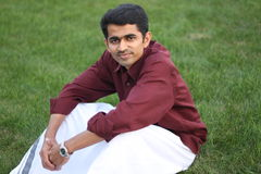 Dhoti. An asian guy clad in dhoti a traditional dressof India Royalty Free Stock Images