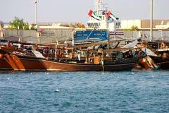 Dhow łódź Fotografia Stock