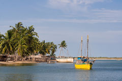 Dhow. In the shipyard of Belo sur Mer, western Madagascar Royalty Free Stock Photography
