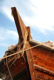 Dhow 9. Tip of a ancient boat Royalty Free Stock Images