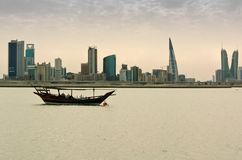 A dhow at anchor Royalty Free Stock Photography