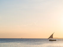 Dhow boat close on Zanzibar Royalty Free Stock Image