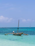 Dhow boat on Mbudya Island, close to Dar es Salaam, Tanzania Royalty Free Stock Photography