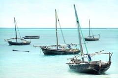 Sailing boats at sea stock photography