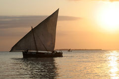 Dhow-Boot Stockfoto