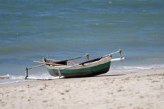 Dhow canoe or boat in Mozambique Stock Images
