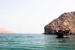 Dhow Cruise. In Dibba, Musandam , Oman Royalty Free Stock Photography