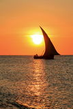 Dhow di Zanzibar Immagini Stock