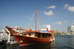 Dhow at Dubai Creek Royalty Free Stock Photos