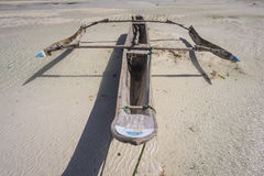 Dhow at low tide Royalty Free Stock Photography