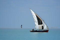 dhow mozambican Royaltyfri Bild
