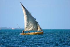 dhow mozambican Royaltyfri Foto