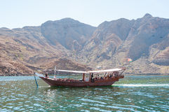 Dhow in Musandam, gulf of Oman Stock Photography