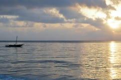 Dhow na oceanie Zdjęcia Royalty Free