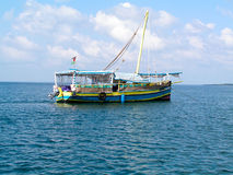 Dhow. Near the coast of Kenia Stock Image