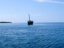 Dhow. Near the coast of Kenia Royalty Free Stock Photo
