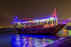 Dhow at night Stock Image