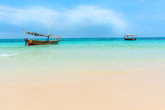 Dhow łodzi ocean indyjski Zdjęcia Stock