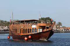 Dhow Restaurant on Dubai Creek Stock Photography