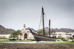 Dhow Sohar in Muscat Stock Image