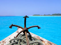 Dhow of tanzania stock image