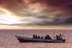 Dhow traditional fishing vessel Stock Photography