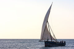Dhow traditional sailing vessel Stock Image