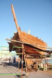 Dhow under repair Royalty Free Stock Photos