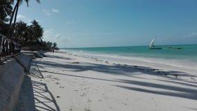 Dhowboot op het eiland van Zanzibar Stock Afbeelding