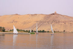 Dhows auf dem Nil Lizenzfreies Stockfoto