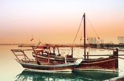 Dhows at dawn royalty free stock photos