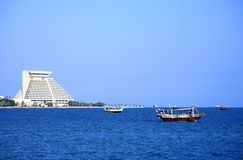 Dhows in Doha Bay, Qatar Stock Photography