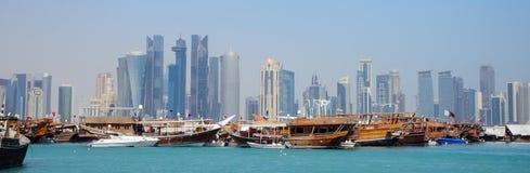 Dhows, Doha, Katar lizenzfreie stockbilder