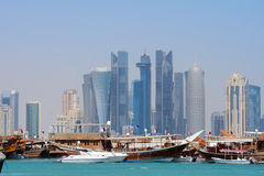 Dhows, Doha, Qatar Stock Image