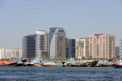 Dhows at Dubai Creek Stock Photography