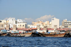 Dhows at Dubai Creek Stock Photo