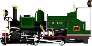 DHR-Stuk speelgoed treinlocomotief wordt gebruikt om bij Darjeeling-Heuvelspoorweg te lopen die royalty-vrije illustratie