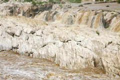 Rock exposure & water cascade of Dhuandhar fall, Jabalpur Royalty Free Stock Photography
