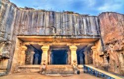 Dhumar Lena, grotta 29 på det Ellora komplexet UNESCOvärldsarv i maharashtraen, Indien Royaltyfri Bild