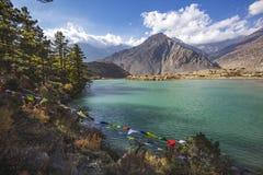 Dhumba Lake, Jomsom, Himalaya mountains of Nepal. Dhumba Lake in Jomsom. Himalaya mountains, Nepal. Annapurna circuit trek stock image