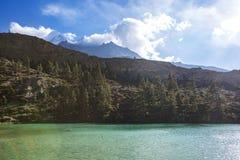 Dhumba Lake, Jomsom, Himalaya mountains of Nepal. Dhumba Lake in Jomsom. Himalaya mountains, Nepal. Annapurna circuit trek royalty free stock photography