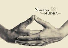 Dhyana Mudra 库存照片