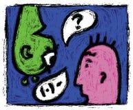 Diálogo ilustração stock