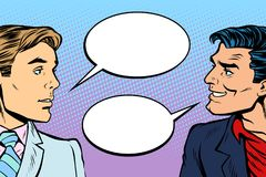 Diálogo de dois homens ilustração do vetor