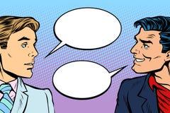 Diálogo de dos hombres ilustración del vector